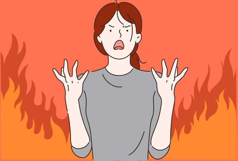 כעס אש