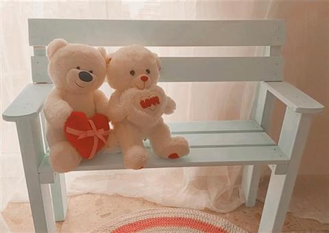 ספסל עץ לילדים