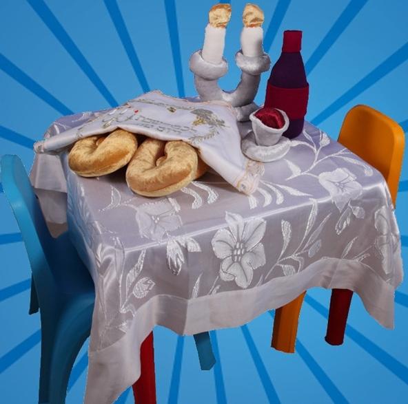 שולחן ילדים לקבלת שבת בגן ובבית